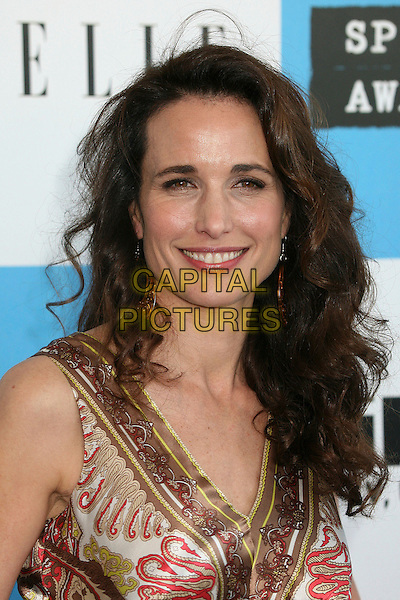 ANDIE MacDOWELL.2007 Film Independent's Spirit Awards at the Santa Monica Pier, Santa Monica, California, USA,.24 February 2007..portrait headshot andy mcdowell.CAP/ADM/BP.©Byron Purvis/AdMedia/Capital Pictures.