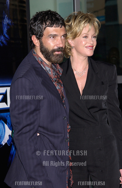 Actor ANTONIO BANDERAS & actress wife MELANIE GRIFFITH at the world premiere, in Los Angeles, of his new movie Ballistic: Ecks vs. Sever..18SEP2002  © Paul Smith / Featureflash
