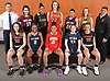 The 2017 Newsday All-Long Island girls basketball team poses for a group portrait during the All-Long Island photo shoot at company headquarters on Monday, March 27, 2017. FRONT ROW, FROM LEFT: Grace Stone of Long Island Lutheran, Aziah Hudson of Baldwin, Tori Harris of Half Hollow Hills West, Jenna Annecchiarico of Baldwin and Celeste Taylor of Long Island Lutheran. BACK ROW, FROM LEFT: Coach Tom Catapano of Baldwin, Gabrielle Zaffiro of North Shore, Maia Moffitt of St. Anthony's, Danielle Cosgrove of Sachem East, Chanel Taylor of Central Islip, Lauren Hansen of Ward Melville and Coach Paul Venturi of Central Islip.