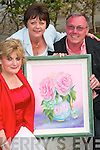 Duagh artist Ellen Keane, left with her sister Margaret Histon, Ballybunion and Grahm Bennett, Cork who officially opened Ellen Keane's first art exhibition at the Seancaha?i Centre in Listowel on Thursday night..   Copyright Kerry's Eye 2008