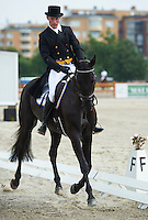 NIklas Jonsson (SWE) riding First Lady  during the dressage test at Malmo City Horse Show FEI World Cup Eventing Qualifier CIC***. <br /> The couple was with 62,47 % placed 25th after Friday's dressage.<br /> Eventing in Ribersborg, Malmo, Sweden.<br /> August 2011.<br /> Only for editorial use.