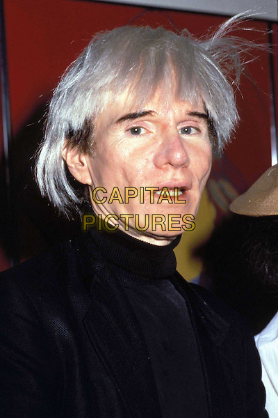ANDY WARHOL..Ref: 043..white hair, headshot, portrait..www.capitalpictures.com..sales@capitalpictures.com..©Capital Pictures