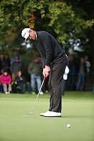Robert Karlsson (SWE) in putting action during the Final Round of the British Masters 2015 supported by SkySports played on the Marquess Course at Woburn Golf Club, Little Brickhill, Milton Keynes, England.  11/10/2015. Picture: Golffile | David Lloyd<br /> <br /> All photos usage must carry mandatory copyright credit (&copy; Golffile | David Lloyd)