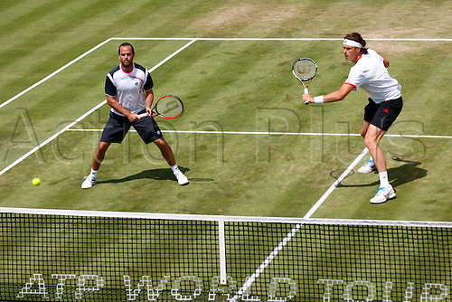 16.06.12 Queens Club, London, ENGLAND: ..MALISSE, Xavier (BEL)/NORMAN, Dick (BEL)..mens doubles quater-final round match during TIPSAREVIC, Janko (SRB)/ZIMONJIC, Nenad (SRB) versus MALISSE, Xavier (BEL)/NORMAN, Dick (BEL)on day Six of the Aegon Championships at Queens Club ..on June 16, 2012 in London , England.........