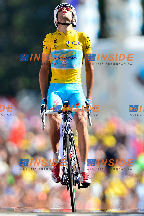 NIBALI Vincenzo (ITA - Astana Pro team) celebrates the victory during stage 13 of the 101th edition of the Tour de France 2014 from Saint-Etienne to Chamrousse  (197,5 km) *** FRANCE 18/07/2014 Biker Pierre Velaerts - Photo by Peter De Voecht and Vincent Kalut /  Photo News *** <br /> Ciclismo Tour de France 18-07-2014<br /> Tappa 13 - ST Etienne to Chamrousse
