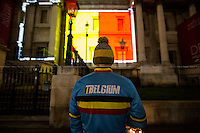 23.03.2016 - Trafalgar Square Lights Up In Solidarity With Brussels