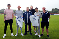 Left to right: Enfield FC assistant manager Jim Duggan, captain Ben Bradbury, Enfield FC Manager Matt Hanning, Enfield FC director Neil Ruddock, new Enfield FC Striker Jamie Cureton, Enfield FC Assistant Manager Terry Fogarty   during a media event at Enfield FC on 27th June 2020