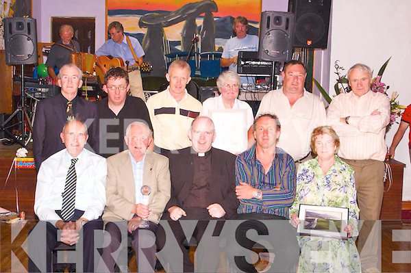 GIFTS: At the special gift presentation for Fr Michael Moynihan at his farewell party at Mountain Lodge, Annagh, Tralee, on Monday night last were, front l-r: Joe Rooney (Pioneer Association), Christy Murphy, Fr Michael Moynihan, Ed O'Brien and Bridget Keane. Back l-r: Jack Lacey, Brendan O'Brien, Mike Greaney, Hanna Allman, Michael O'Connor and Pa Kerins..