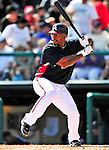 13 March 2010: Atlanta Braves' infielder Joe Thurston in action during a Spring Training game against the Toronto Blue Jays at Champion Stadium in the ESPN Wide World of Sports Complex in Orlando, Florida. The Blue Jays shut out the Braves 3-0 in Grapefruit League action. Mandatory Credit: Ed Wolfstein Photo
