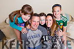 Mark Cushen with his wife Siobhan and children Jocelyn, Isabelle and Ethan relaxing at home in Tralee after a gruelling session of the Special Forces tv show.