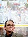 ATLETIKA, Beograd 7. Apr. 2009. - Direktor beogradskog maratona Dejan Nikolic tokom konferencije za novinare povodom ovogodisnjeg, 22. Beogradskog Banca Intesa maratona. FOTO NENAD NEGOVANOVIC