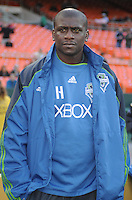 Seattle Sounders Assistant Coach Ezra Hendrickson.    DC United defeated The Seattle Sounders 2-1 at  RFK Stadium, Wednesday May 4, 2011.
