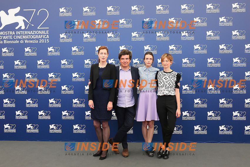 VENICE, ITALY - SEPTEMBER 10: Gina McKee, Nicolas Saada, Stacy Martin and Alba Rohrwacher attend 'Taj Mahal' Photocall during 72nd Venice Film Festival at Palazzo Del Cinema on September10, 2015 in Venice, Italy. (Mark Cape/insidefoto)