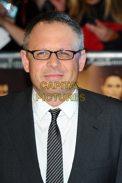 Bill Condon.'The Twilight Saga: Breaking Dawn - Part 1' UK film premiere at Westfield Stratford City, London, England..16th November 2011.headshot portrait grey gray suit jacket white shirt glasses .CAP/CJ.©Chris Joseph/Capital Pictures.