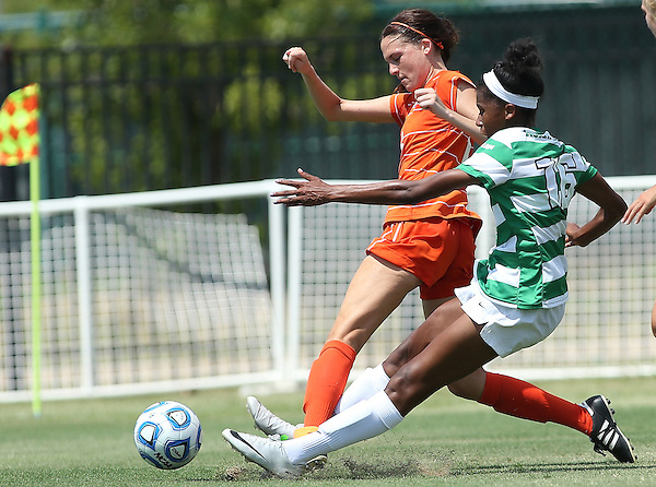 ARLINGTON, TX - AUGUST 25: Rachel Holden Houston Baptist vs North Texas Mean Green Soccer at Mean Green Village Soccer Field in Denton on August 25, 2013 in Denton, Texas. Photo by Rick Yeatts