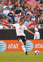 22 MAY 2010:  USA's Kate Markgraf #15 during the International Friendly soccer match between Germany WNT vs USA WNT at Cleveland Browns Stadium in Cleveland, Ohio on May 22, 2010.