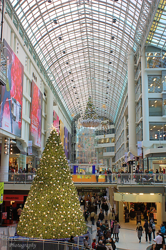 Christmas shopping in downtown Toronto at the Eaton Center