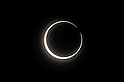 """May 21, 2012, Tokyo, Japan - The partial solar eclipse is seen in Nerima ward, Tokyo, Japan on May 21, 2012. An annular solar eclipse was observed over a wide area of Japan on Monday early morning. Millions of people watched as a rare """"ring of fire"""" eclipse crossed the skies. (Photo by Tsutomu Yamada/AFLO) -ty-"""