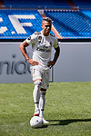 Mariano Diaz during his Official presentation at Estadio Santiago Bernabeu in Madrid, Spain. August 31, 2018. (ALTERPHOTOS/A. Perez Meca)