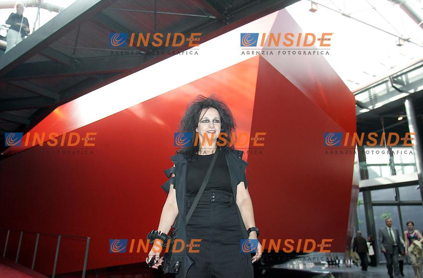 THE ARCHITECT ODILE DECQ<br /> Roma 27/05/2010 Presentazione in anteprima della nuova ala del Macro, Museo d&rsquo;arte contemporanea Roma. <br /> opening of a new conteporary art museum in rome, MACRO.<br /> Photo Samantha Zucchi Insidefoto