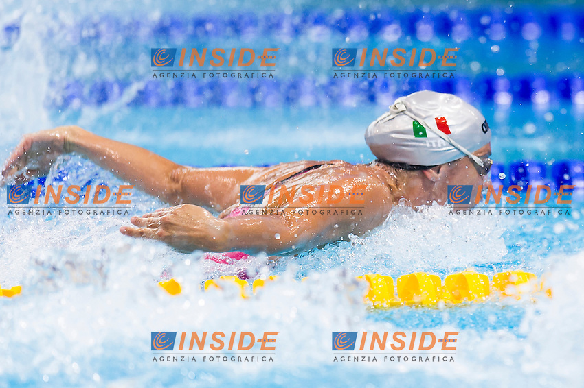 GEMO Elena ITA<br /> London, Queen Elizabeth II Olympic Park Pool <br /> LEN 2016 European Aquatics Elite Championships <br /> Swimming<br /> Women's 50m butterfly preliminary <br /> Day 08 16-05-2016<br /> Photo Giorgio Perottino/Deepbluemedia/Insidefoto