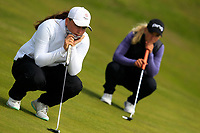 Lily May Humphreys (ENG) and Romy Meekers (NED) during the final round at the Irish Woman's Open Stroke Play Championship, Co. Louth Golf Club, Louth, Ireland. 12/05/2019.<br /> Picture Fran Caffrey / Golffile.ie<br /> <br /> All photo usage must carry mandatory copyright credit (&copy; Golffile | Fran Caffrey)