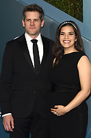 LOS ANGELES - JAN 19:  Ryan Piers Williams, America Ferrera at the 26th Screen Actors Guild Awards at the Shrine Auditorium on January 19, 2020 in Los Angeles, CA
