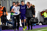 ANDERLECHT, BELGIUM - SEPTEMBER 27 :  Uros Spajic defender of RSC Anderlecht leaves the field with an injury during the Champions League Group B  match between RSC Anderlecht and Celtic FC on September 27, 2017 in Anderlecht, Belgium, 27/09/2017<br /> Foto Photonews/Panoramic