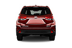 Straight rear view of 2017 Toyota Highlander SE 5 Door SUV Rear View  stock images