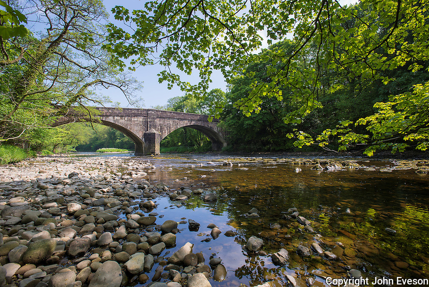 Doeford Bridge and River Hodder, Whitewell, Lancashire.