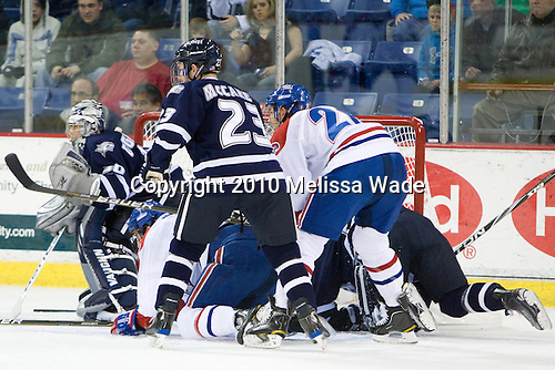 Matt DiGirolamo (UNH - 30), Matt Ferreira (Lowell - 17), Kevin McCarey (UNH - 23), Ryan Blair (Lowell - 26) - The visiting University of New Hampshire Wildcats defeated the University of Massachusetts-Lowell River Hawks 3-0 on Thursday, December 2, 2010, at Tsongas Arena in Lowell, Massachusetts.