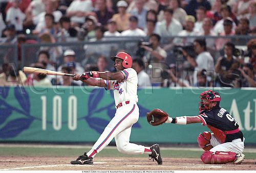 E PARET, CUBA 13 v Japan 9, Baseball Final, Atlanta Olympics, 96. Photo: Glyn kirk/Action Plus...olympic games.1996.male men man
