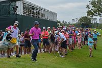C.T. Pan (TAI) acknowledges the gallery after chipping up tight on 9 during round 4 of The Players Championship, TPC Sawgrass, at Ponte Vedra, Florida, USA. 5/13/2018.<br /> Picture: Golffile | Ken Murray<br /> <br /> <br /> All photo usage must carry mandatory copyright credit (&copy; Golffile | Ken Murray)