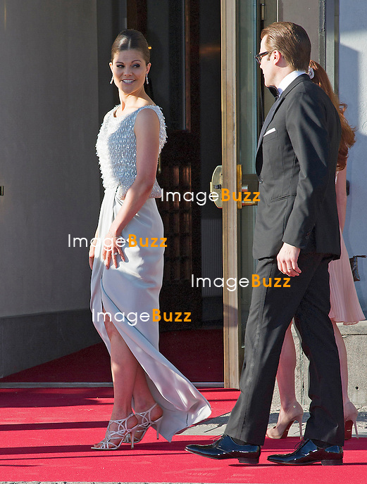 CROWN PRINCESS VICTORIA AND PRINCE DANIEL<br /> attend a Pre-Wedding Dinner for Princess Madeleine and Christopher O'Neill at the Grand Hotel, Stockholm, Sweden_07/06/2013