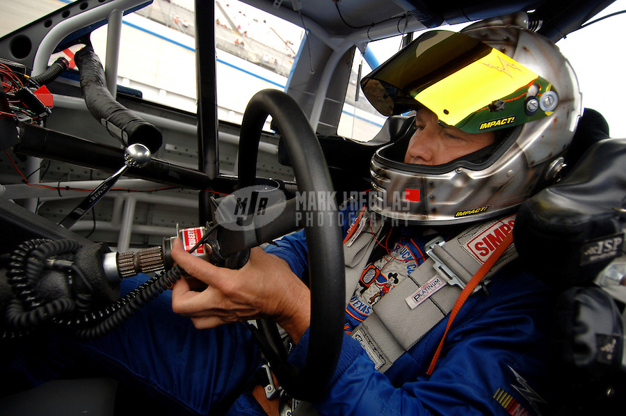 June 2, 2006; Dover, DE, USA; Nascar Craftsman Truck driver Rick Crawford during qualifying for the AAA Insurance 200 at Dover International Speedway. Mandatory Credit: Mark J. Rebilas