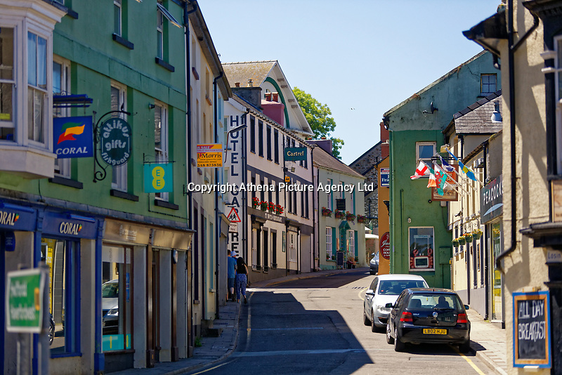 High Street, Fishguard, Pembrokeshire, Wales, UK