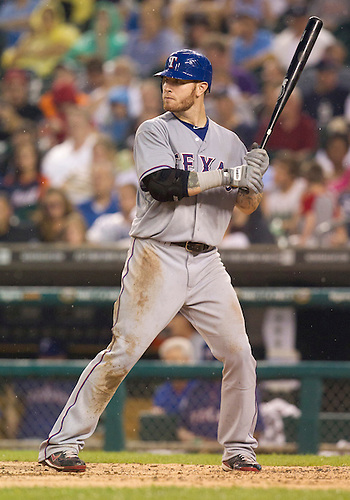 August 02, 2011:  Texas Rangers center fielder Josh Hamilton (#32) at bat during MLB game action between the Texas Rangers and the Detroit Tigers at Comerica Park in Detroit, Michigan.  The Tigers defeated the Rangers 6-5.