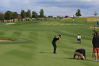 Lee Slattery (ENG) on the 14th fairway during Round 4 of the D+D Real Czech Masters at the Albatross Golf Resort, Prague, Czech Rep. 03/09/2017<br /> Picture: Golffile   Thos Caffrey<br /> <br /> <br /> All photo usage must carry mandatory copyright credit     (&copy; Golffile   Thos Caffrey)