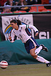 16 October 2004, Mia Hamm of the U.S. Women's National Team in their 1-0 defeat of Mexico at Arrowhead Stadium, Kansas City, Missouri..