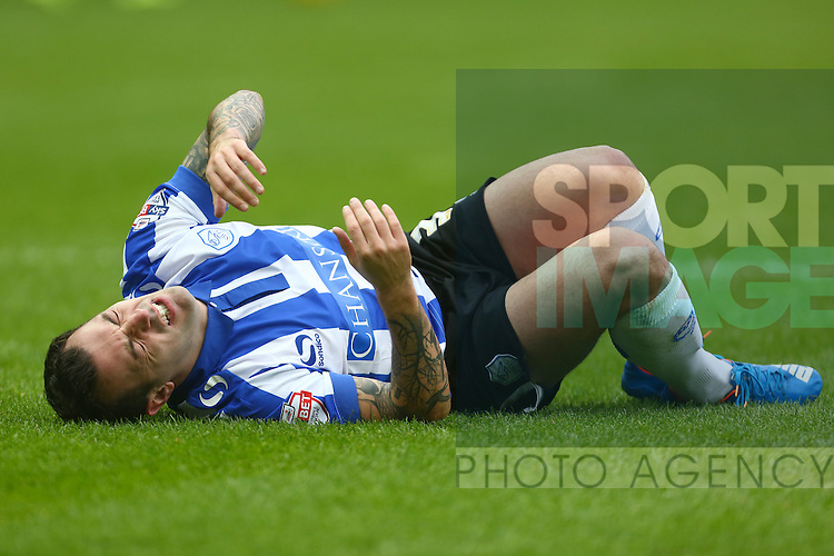 Wednesday's Ross Wallace in pain following a tackle - Sheffield Wednesday vs Derby County - Skybet Championship - Hillsborough - Sheffield - 06/12/2015 Pic Philip Oldham/SportImage