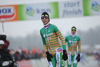 MARATHONSCHAATSEN: ELBURG: Veluwemeer,  25-01-2013, Schaatsseizoen 2012-2013, KPN NK Marathon Natuurijs, een derde plaats voor Jorrit Bergsma  (A13), ©foto Martin de Jong