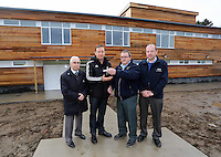 Pictured: Huw Jenkins (2nd L). Tuesday 14 January 2013<br />