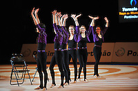 Senior group from Spain performs gala exhibition routine at 2011 World Cup at Portimao, Portugal on May 01, 2011.