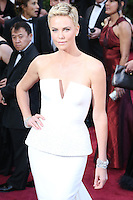 02/24/13 Hollywood, CA: Actress  Charlize Theron  arrives at the Oscars before entering the Dolby Theater.
