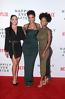 """Camille Guaty, Sanaa Lathan, Brittany S. Hall<br /> at the """"Nappily Ever After"""" Special Screening, Harmony Gold Theater, Los Angeles, CA 09-20-18<br /> Copyright DailyCeleb.com.  All Rights Reserved."""