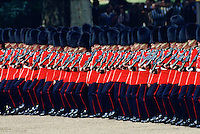 Soldiers parading during Trooping the Colour, London, England