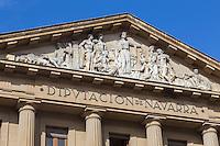 Espagne, Navarre, Pampelune: Palais de Navarre, siège de la Présidence du Gouvernement et de différentes administrations de la Région.   //  Spain, Navarre, Pamplona: The Palace of Navarra, he Palacio de Navarre, seat of the Presidency of the Regional Government and a number of administrative offices of Navarre.
