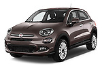2015 Fiat 500X Lounge 5 Door SUV angular front stock photos of front three quarter view