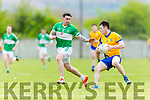 Beaufort's Liam Carey  and Na Gaeil's David Culloty Castleisland Mart Junior Premier Club Championship Na Gaeil V Beaufort at Na Gaeil GAA Ground on Monday