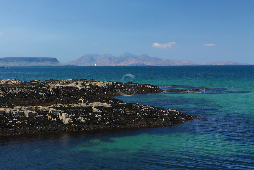 Looking towards Rum and Eigg from Traig, Arisaig, Lochaber<br /> <br /> Copyright www.scottishhorizons.co.uk/Keith Fergus 2011 All Rights Reserved